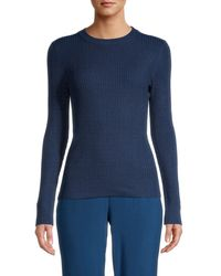 525 America Women's Ribbed Sweater - Hot Pink - Size S - Blue