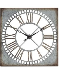 UMA | Raquel Davidowicz Square Wall Clock - Metallic