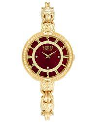 Versus Goldtone Stainless Steel & Swarovski Crystal Bracelet Watch - Red