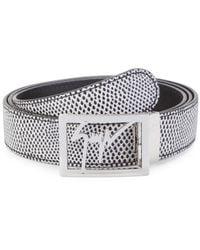 Giuseppe Zanotti Logo Leather Belt - Black
