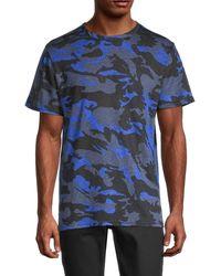 Zadig & Voltaire Camouflage-print Linen Tee - Blue