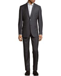 Saks Fifth Avenue - Wool Buttoned Suit - Lyst