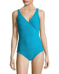 Gottex - Essence One-piece Surplice Swimsuit - Lyst