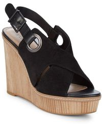 BCBGeneration - Penelope Leather Open-toe Wedge Sandals - Lyst