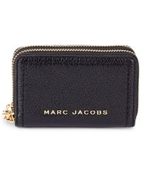 Marc Jacobs The Groove Double-zip Leather Card Case - Black