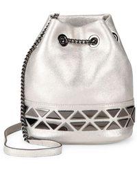 Vince Camuto Triangle Chain Bucket Bag - Metallic