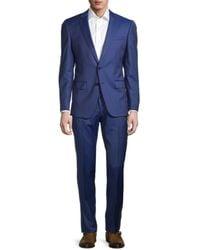 BOSS by HUGO BOSS Classic-fit Virgin Wool Suit - Blue