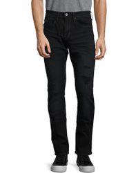 Buffalo David Bitton Mid-rise Distressed Jeans - Black