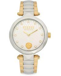 Versus Women's Two-tone Stainless Steel & Swarovski Crystal Bracelet Watch - White