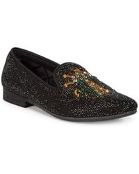 Steve Madden - P-scarab Embellished Smoking Slippers - Lyst