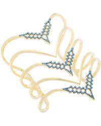 Noir Jewelry | Turquoise-studded Slip-on Bracelet | Lyst