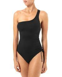 Melissa Odabash Women's Polynesia One-shoulder One-piece Swimsuit - Black - Size 42 (6)