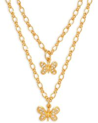 Kenneth Jay Lane Women's 22k Goldplated Butterfly Layered Necklace - Metallic