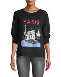 Karl Lagerfeld Rolls Royce Paris Graphic Sweatshirt - Black