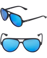 Ray-Ban 59mm Cats 5000 Mirrored Sunglasses - Blue