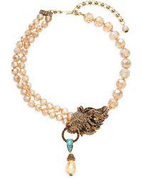 Heidi Daus Lion Roar Crystal & Rhinestone Necklace - Multicolour