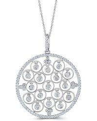 Saks Fifth Avenue - Dancing Diamond And 14k White Gold Pendant Necklace - Lyst