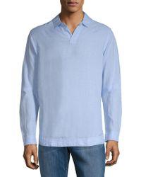 Orlebar Brown - Long-sleeve Linen Polo - Lyst