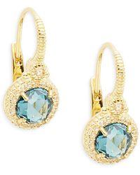 Meira T 14k Rose Gold Black Jade & Diamond Circle Earrings