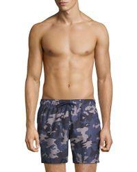 Slate & Stone - Camouflage Swim Shorts - Lyst