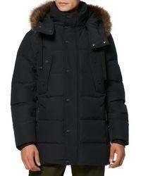 Marc New York Men's Gattaca Faux Fur-trim Down-blend Parka - Charcoal - Size S - Grey