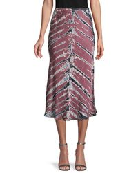 Young Fabulous & Broke Women's Tie-dye Pull-on Skirt - Ink Bamboo - Size Xs - Multicolour