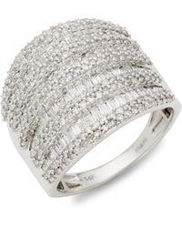 Saks Fifth Avenue 14k White Gold & Diamond Flower Pendant Necklace - Multicolour