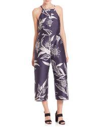SUNO - Floral Jacquard Jumpsuit - Lyst