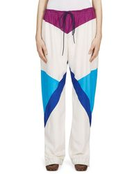 Chloé Silk Parachute Trousers - Blue