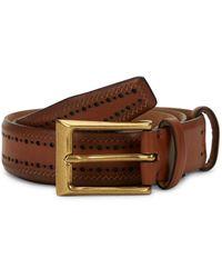 Cole Haan Perforated Slim Belt - Brown