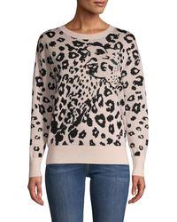 Rebecca Taylor Leopard-print Merino Wool Jumper - Black