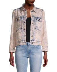 Joie Women's Button-front Denim Jacket - Melon - Size Xxs - Multicolor