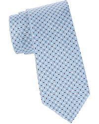 Brooks Brothers Men's Tile-print Silk Tie - Blue