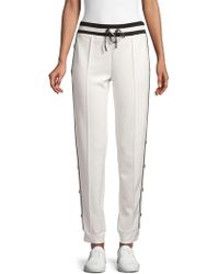 Karl Lagerfeld - Buttoned Jogger Trousers - Lyst