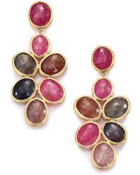 Marco Bicego - Siviglia Multicolor Sapphire & 18k Yellow Gold Chandelier Drop Earrings - Lyst