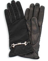 Portolano Women's Leather-palm Gloves - Black - Size 7