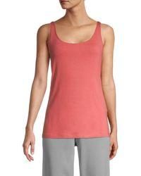 Eileen Fisher Slim Tank Top - Pink