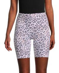 Marc New York Leopard-print Biker Shorts - Multicolour
