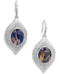 Armenta - New World Doublet & Champagne Diamond Marquis Drop Earrings - Lyst