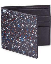 Maison Margiela - Splatter Paint Leather Bifold Wallet - Lyst