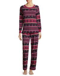 Carole Hochman | Printed Grid Pajamas | Lyst