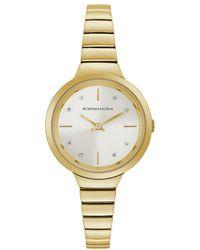 BCBGMAXAZRIA Women's Classic Goldtone Stainless Steel & Crystal Bracelet Watch - White