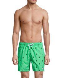 Trunks Surf & Swim Men's Sano Pineapple Swim Trunks - Island Green - Size L