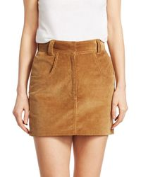 RE/DONE Women's Ultra High-rise Corduroy Skirt - Camel - Size 29 (6-8) - Natural