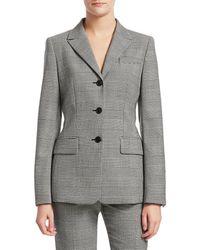 ESCADA Women's Glen Plaid Blazer - Black - Size 40 (10)