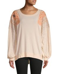 Free People Feelin' It Embroidered Top - Multicolour
