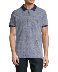 Jack & Jones Men's Nick Short-sleeve Polo Shirt - Denim Blue - Size M