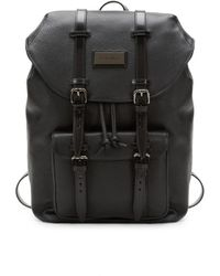 Valentino By Mario Valentino - Men's Logo Leather Backpack - Black - Lyst