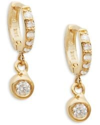 Danni Women's 14k Yellow Gold & Diamond Drop Earrings - Metallic
