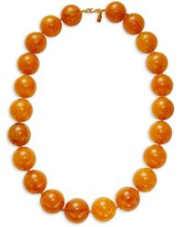 Kenneth Jay Lane Women's Goldplated Bead Necklace - Multicolour